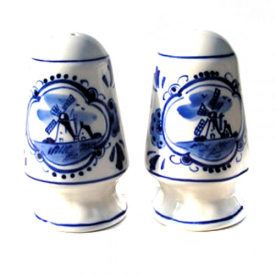 PEPPER AND SALT SET DELFT BLUE MUSHROOMS