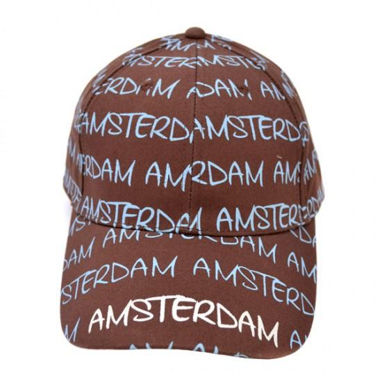 BASEBALL CAP BROWN BLUE CHARS AMSTERDAM ROBIN RUTH