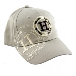 HOLLAND BASEBALL CAP BEIGE / BROWN EMBROIDERY COTTON