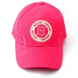 HOLLAND BASEBALL CAP BRIGHT PINK EMBROIDERY COTTON