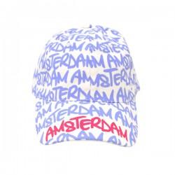 BASEBALL CAP WHITE PURPLE CHARS AMSTERDAM ROBIN RUTH