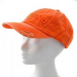 CAP HOLLAND  ORANGE TRASH LOOK COTTON