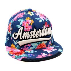 CAP NEW STYLE AMSTERDAM  RUBY BLUE FLOWER ROBIN RUTH