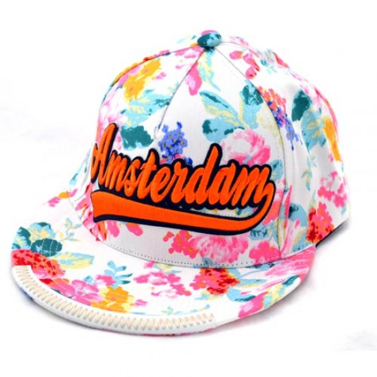 CAP NEW STYLE AMSTERDAM  RUBY WHITE FLOWER ROBIN RUTH