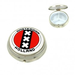 PILL-BOX AMSTERDAM RED 5 CM