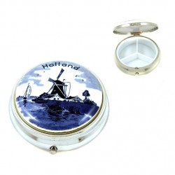 PILL-BOX DELFT BLUE HOLLAND ROUND