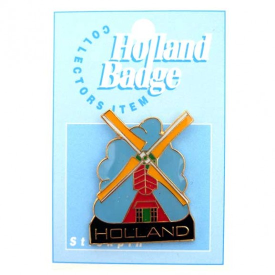 STICKPIN / BROOCH HOLLAND WINDMILL 2 X 3 CM