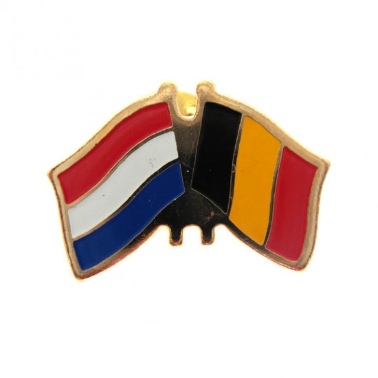 STICKPIN / BROOCH FLAG NETHERLANDS - BELGIUM