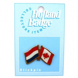 STICKPIN / BROOCH FLAG NETHERLANDS - CANADA