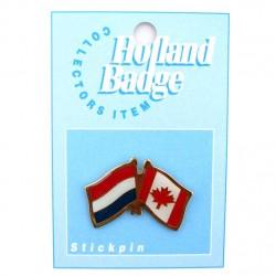 STICKPIN / BROOCH FLAG NETHERLANDS - CANADA