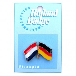 STICKPIN / BROOCH FLAG NETHERLANDS - GERMANY