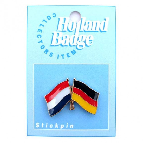 STICKPIN / BROOCH FLAG NETHERLANDS - GERMANY