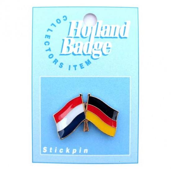 Pin / broche vlag nederland - duitsland