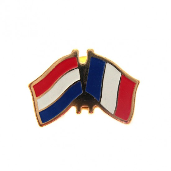STICKPIN / BROOCH FLAG NETHERLANDS - FRANCE