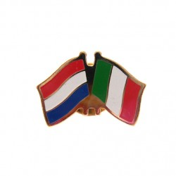 STICKPIN / BROOCH FLAG NETHERLANDS - ITALY