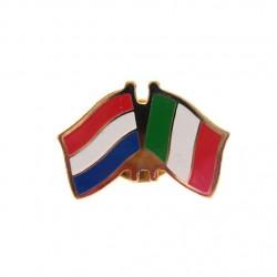 STICKPIN / BROOCH FLAG NETHERLANDS - ITALY