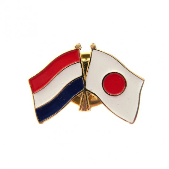 Pin / broche vlag nederland - japan