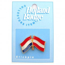 STICKPIN / BROOCH FLAG NETHERLANDS - AUSTRIA
