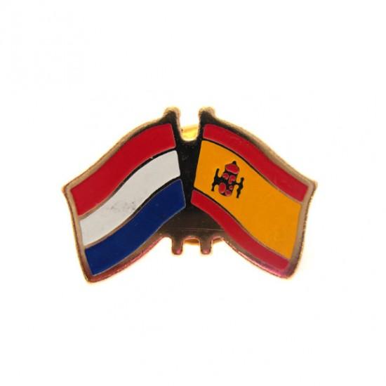 STICKPIN / BROOCH FLAG NETHERLANDS - SPAIN