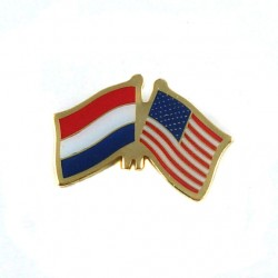 PIN / BROOCH FLAG NETHERLANDS - UNITED STATES
