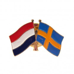 STICKPIN / BROOCH FLAG NETHERLANDS - SWEDEN