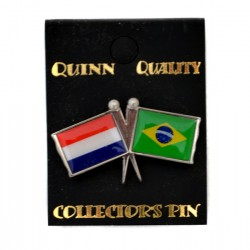 PIN DOUBLE FLAG NETHERLANDS BRAZIL