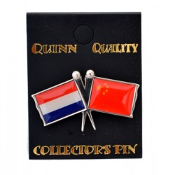 PIN DOUBLE FLAG NETHERLANDS CHINA