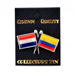 PIN DOUBLE FLAG NETHERLANDS COLOMBIA