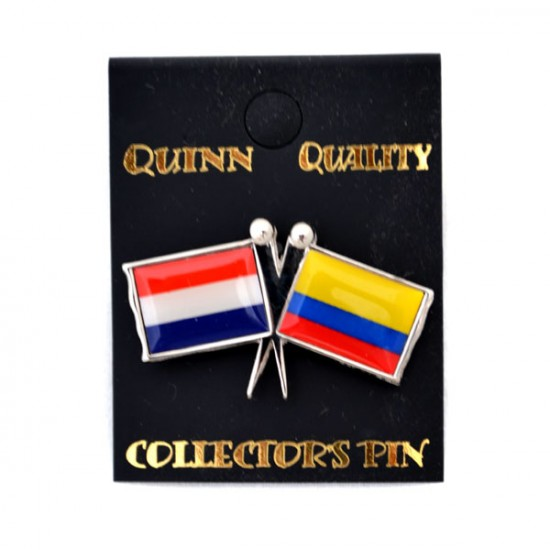 Pin duo vlag nederland colombia