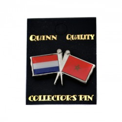 PIN DOUBLE FLAG NETHERLANDS MOROCCO