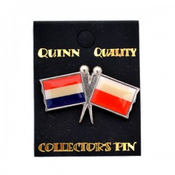 PIN DOUBLE FLAG NETHERLANDS POLAND