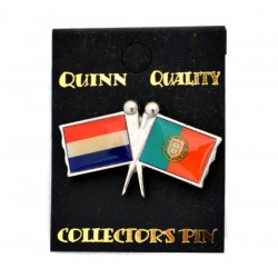 PIN DOUBLE FLAG NETHERLANDS POTUGAL