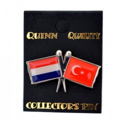 PIN DOUBLE FLAG NETHERLANDS TURKEY