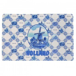 PLACEMAT DELFT BLUE TILE PRINT WINDMILL HOLLAND