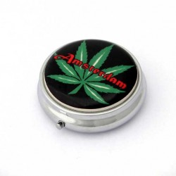 POCKET ASHTRAY AMSTERDAM CANNABIS LEAF