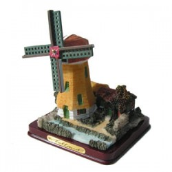 POLYSTONE WINDMILL POLDER YELLOW 12 CM