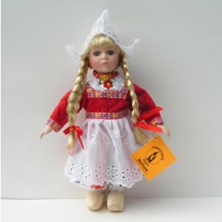 PORCELAIN DOLL GIRL RED COSTUME