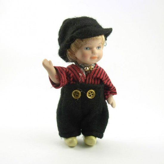 HANDMADE PORCELAIN COSTUME DOLL BOY 12 CM