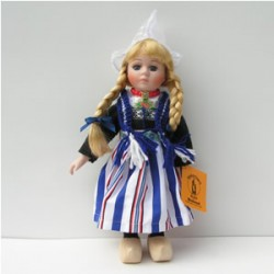 PORCELAIN DOLL GIRL STRIPES