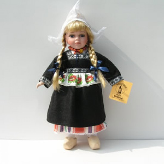 Porcelain doll girl black costume