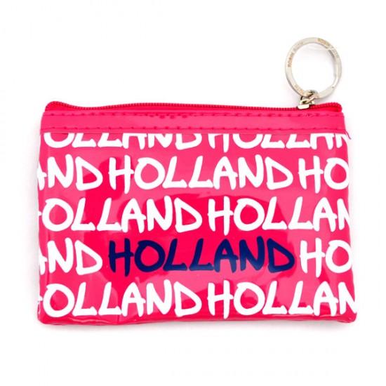 WALLET HOLLAND PINK VARNISH