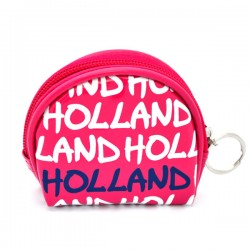 WALLET HOLLAND PINK VARNISH ROUND