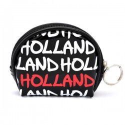 WALLET HOLLAND BLACK VARNISH ROUND