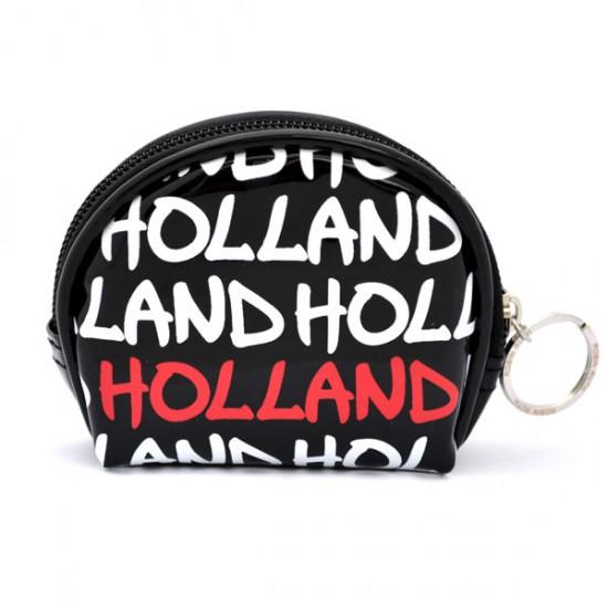 WALLET HOLLAND BLACK VARNISH ROUND