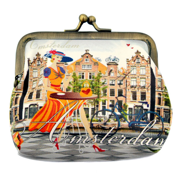 Wallet Amsterdam Robin Ruth Claire Clip Beige Amsterdam