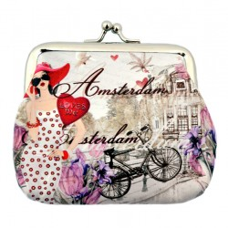 WALLET AMSTERDAM ROBIN RUTH CLAIRE CLIP GRIJS