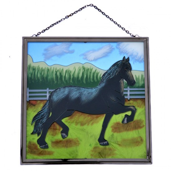 WINDOW DECORATION RUNNING HORSE