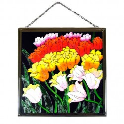 WINDOW GLASS PENDANT TULIPS