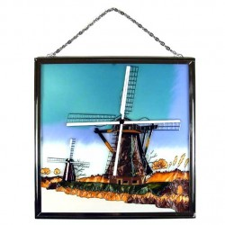 WINDOW GLASS PENDANT WINDMILL WINTER