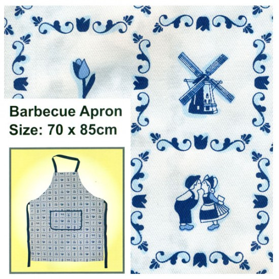 APRON BBQ SMALL DELFT BLUE TILES